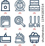 simple set of  9 outline icons...   Shutterstock .eps vector #1194183514