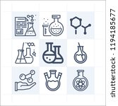 simple set of 9 icons related...   Shutterstock .eps vector #1194185677