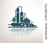 chemical  petrochemical or... | Shutterstock .eps vector #1194186751