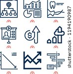 simple set of  9 outline icons... | Shutterstock .eps vector #1194190987