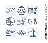 simple set of 9 icons related... | Shutterstock .eps vector #1194191674