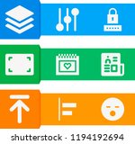 simple set of  9 filled icons... | Shutterstock .eps vector #1194192694