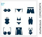 simple set of  9 filled icons... | Shutterstock .eps vector #1194193474