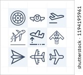simple set of 9 icons related... | Shutterstock .eps vector #1194195961