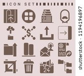 simple set of  16 filled icons... | Shutterstock .eps vector #1194196897