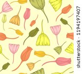 seamless pattern with hand... | Shutterstock .eps vector #1194197407