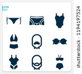 simple set of  9 filled icons... | Shutterstock .eps vector #1194197524