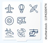 simple set of 9 icons related... | Shutterstock .eps vector #1194200974