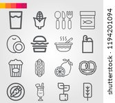 simple set of 16 icons related... | Shutterstock .eps vector #1194201094