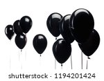 black balloons isolated on...   Shutterstock . vector #1194201424
