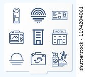 simple set of 9 icons related... | Shutterstock .eps vector #1194204061