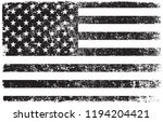 grunge american flag.old dirty... | Shutterstock .eps vector #1194204421
