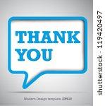 modern design speech bubbles... | Shutterstock .eps vector #119420497