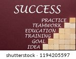 steps for success with wooden... | Shutterstock . vector #1194205597
