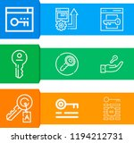 simple set of  9 outline icons... | Shutterstock .eps vector #1194212731