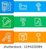 simple set of  9 outline icons... | Shutterstock .eps vector #1194220384