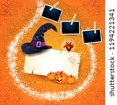 halloween background with... | Shutterstock .eps vector #1194221341