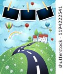 fantasy landscape with road ... | Shutterstock .eps vector #1194222541