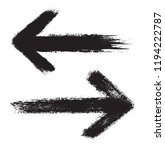 grunge arrows.dirty arrow icons.... | Shutterstock .eps vector #1194222787