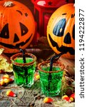 halloween composition with... | Shutterstock . vector #1194222877