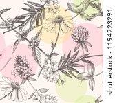 vector hand drawn meadow... | Shutterstock .eps vector #1194223291
