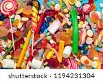 different colorful fruit candy | Shutterstock . vector #1194231304