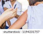 cervical cancer vaccination for ... | Shutterstock . vector #1194231757