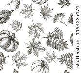 decorative seamless pattern... | Shutterstock .eps vector #1194235474