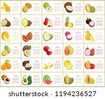 citron and kiwano posters set... | Shutterstock .eps vector #1194236527
