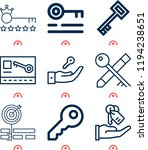 simple set of  9 outline icons... | Shutterstock .eps vector #1194238651