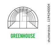greenhouse construction frame.... | Shutterstock . vector #1194240004