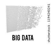big data visualization. machine ... | Shutterstock . vector #1194240241