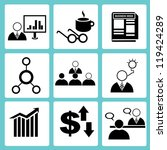 business management icon set ... | Shutterstock .eps vector #119424289