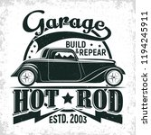 hot rod garage logo design ... | Shutterstock .eps vector #1194245911