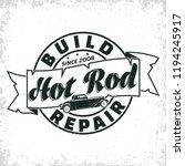 hot rod garage logo design ... | Shutterstock .eps vector #1194245917