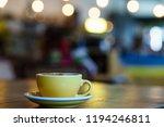 coffee milk and foam with bokeh ... | Shutterstock . vector #1194246811