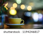 coffee milk and foam with bokeh ... | Shutterstock . vector #1194246817
