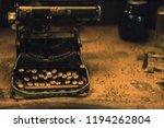 old antique typewriter | Shutterstock . vector #1194262804