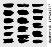 black textured smears set... | Shutterstock .eps vector #1194269347