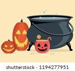 witch cauldron  halloween... | Shutterstock .eps vector #1194277951