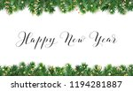 happy new year calligraphy.... | Shutterstock .eps vector #1194281887