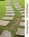 garden walk way with stone in... | Shutterstock . vector #1194285667