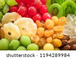dried fruits and food... | Shutterstock . vector #1194289984