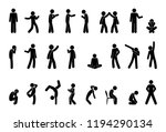 stick figure people pictogram ... | Shutterstock .eps vector #1194290134