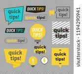 quick tips  helpful tricks...   Shutterstock .eps vector #1194290941