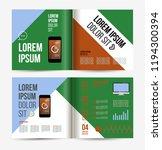 vector brochure template design ... | Shutterstock .eps vector #1194300394