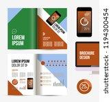 vector brochure template design ... | Shutterstock .eps vector #1194300454