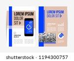 vector brochure template design ... | Shutterstock .eps vector #1194300757