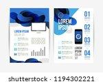 vector brochure template design ... | Shutterstock .eps vector #1194302221