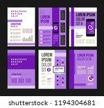vector brochure template design ... | Shutterstock .eps vector #1194304681